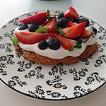 recette Shortcake surmonté de crème fouettée et fruits rouges