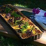 recette Tarte aux courgettes, asperges vertes et noix