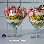 recette Blé à la ricotta, chèvre et crevettes