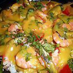 recette Salade de riz aux crevettes