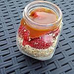 recette Overnight oatmeal fraises caramel au beurre salé