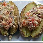 recette Pommes de terre garnies de ricotta, bacon, poivron et parfumées de paprika et curry