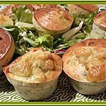 recette Muffins aux fanes de radis et fromage de chèvre.