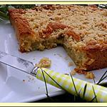 recette Gâteau streusel à la Rhubarbe