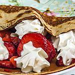 recette Crêpes aux fraises et à la chantilly
