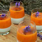 recette Pannacotta coco abricot lavande
