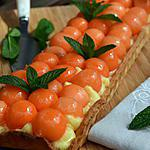 recette Tarte estivale aux billes de melon marinées dans du Floc de Gascogne