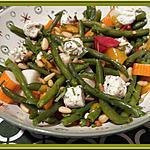 recette Salade de Haricots verts et Poivrons marinés