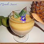 recette Panna cotta tropicale au lait de coco