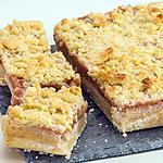recette Carré à la rhubarbe et aux amandes