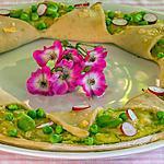 recette Pizza à la crème de fèves et ricotta