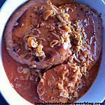 recette Jambon poêlé et sauce marjolaine