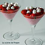recette Fraises parfumées à la menthe et gingembre et ses perles dessous dessus