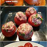recette Tomates farcies à la viande et sauce blanche tomatée