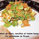 recette Salade de fèves, carotte et tomme basque