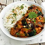 recette Curry de légumes végétalien au lait de coco