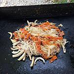 recette vermicelle de riz aux carottes et encornet à la plancha