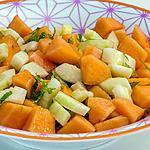 recette Salade de concombre et melon
