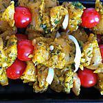 recette Brochettes de poulet colombo
