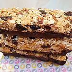 recette Barres de céréales au miel et fruits secs