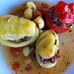 recette Pommes de terre et tomates farcies en cocotte
