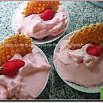 recette Mousse légère à la fraise au blender et Cooking chef (ou pas)
