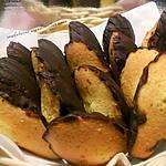 recette madeleine enrobé de chocolat