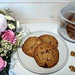 recette Cookies aux noix sans gluten et sans lactose