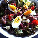 recette Salade de gésiers, tomme de Savoie et tomates cerises