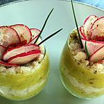 recette Verrines féroce d'avocat et miettes de crabe