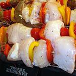 recette Brochettes de Lotte aux crevettes