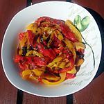 recette Salade de poivrons marinés