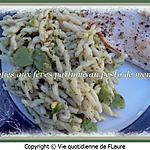 recette Trofies aux fèves parfumées au pesto de menthe