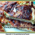 recette Tarte feuilletée jambon et asperges