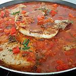 recette Côtes de porc sauce rouge