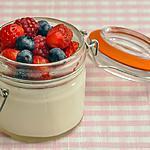 recette Panna cotta à l'agar agar et aux fruits rouges