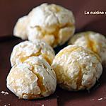 recette Amaretti fourrés à la confiture de gingembre