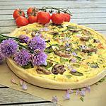 recette Tarte aux Poulet Rôti, Pois Gourmands et Champignons