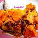 recette Boucané (viande de Porc fumé) au Patate Douce Orange