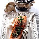 recette Pavé de saumon et haricots sauce yaourt