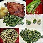 recette Fèves des marais, pdt et jambon grillé à la broche