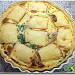 recette Tarte, aux épinards, recouverte de tranches de fromage à raclette