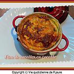 recette Flan de carottes en cocotte