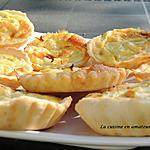 recette Mini tarte à l'oignon avec la pâte à tarte Tupperware