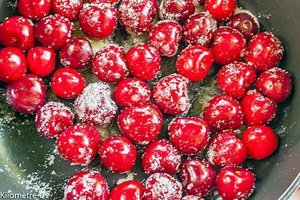 Photo de recette de cerises de  Kilomètre-0, blog de cuisine réalisée à partir de produits locaux et issus de circuits courts