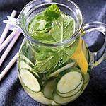 recette Eau aromatisée au concombre-citron-menthe, bio