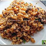 recette Coquillettes, bœuf haché, velouté et soupe, parfumées au paprika, persil et céleri