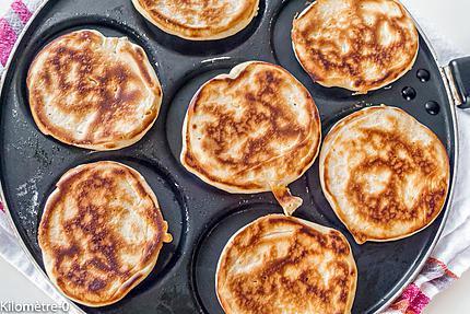 Photo de recette de blinis facile de  Kilomètre-0, blog de cuisine réalisée à partir de produits locaux et issus de circuits courts
