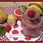 recette Smoothie fraises, pamplemousse, poire, basilic