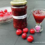 recette Confiture de cerises au gingembre au micro-ondes